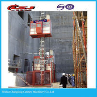Hot selling two cage 2t Sc200/200 construction passenger elevator construction lift
