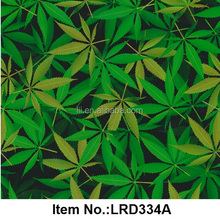 popular 3d cubic pva film green leaf water transfer printing hydrographics kit film