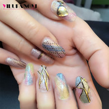 FY081 2017 factory price and excellent export service diy nail stickers