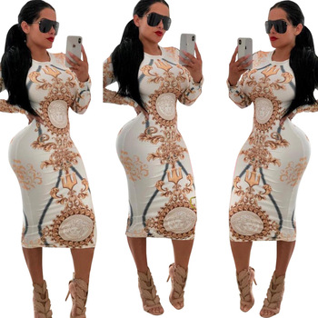 2018 party wear women long sleeve sexy white bandage dresses