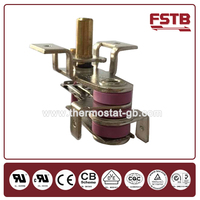 KST adjustable auto reset bimetal thermostat for heat parts
