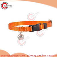 hot sales plain nylon cat collar with bell