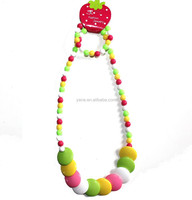 yiwu jewelry factory, girls chunky bead necklace jewelry wholesale jewelry