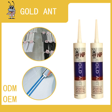 neutral Transparent white glass glue glass adhesiv Silicone sealant NP antibacterial silicone white