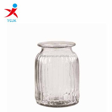 antique striated glass candle jar,glass jar for candle making
