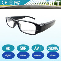 Newly real shooting 5MP hd 1280*720 eyeglasses pinhole camera digital type transparence lens webcam high quality video&picture