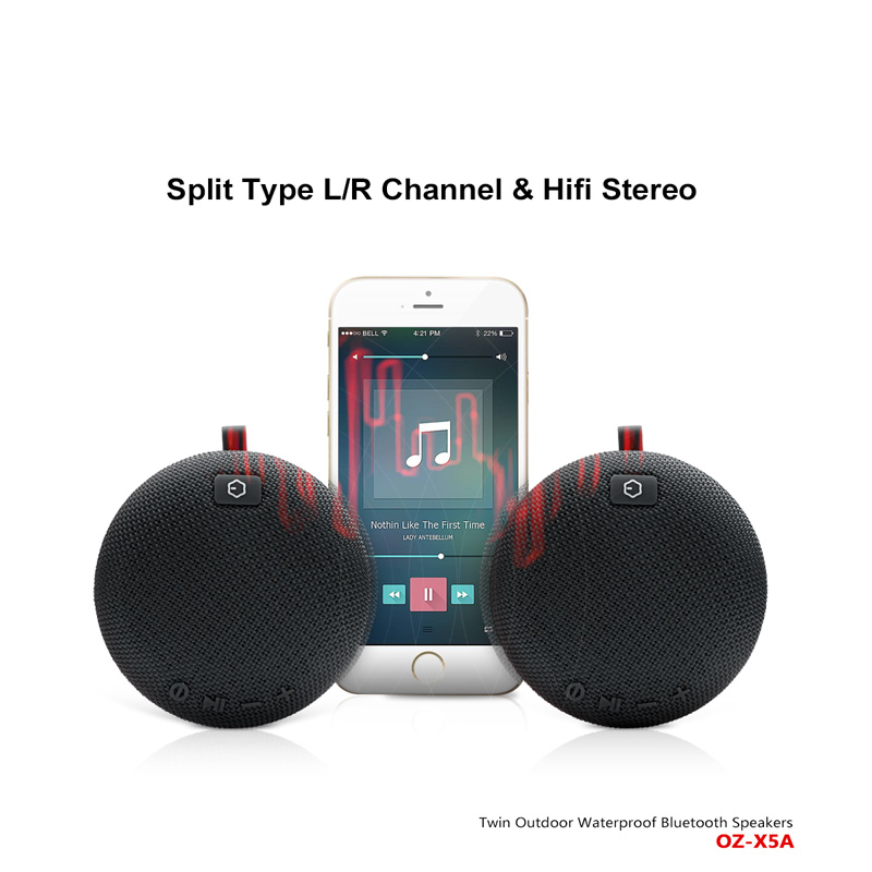 TWS Bluetooth Speaker,Two Speaker Connect One Device,True Wireless Speaker