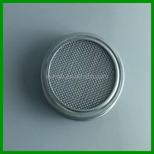 wholesale 70mm mesh sprouting metal lid for mason jar