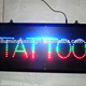 Wholesale TATTOO Letters Illuminated Led Sign China Manufacturer