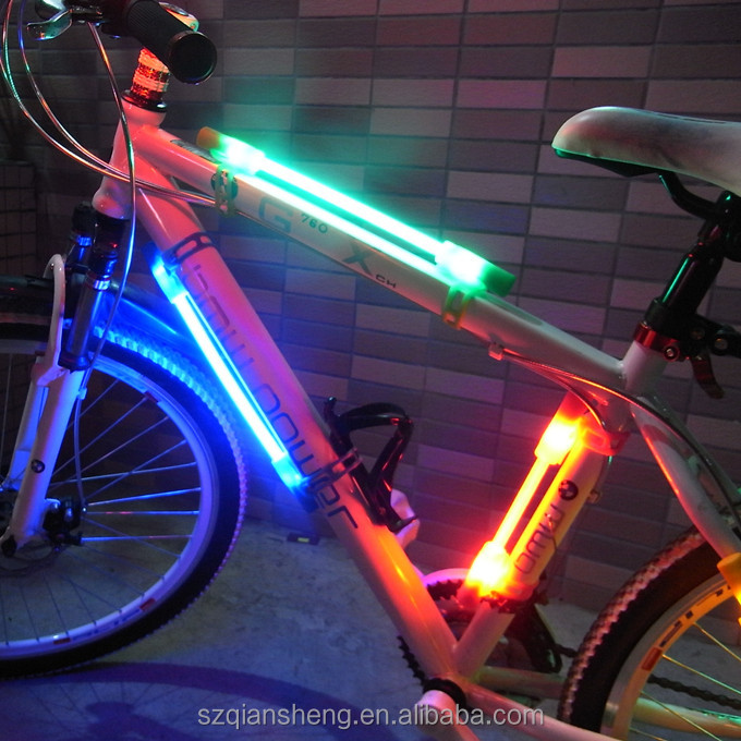Bicycle LED safety stick led glowing light for bike wheel light decorative warming stick