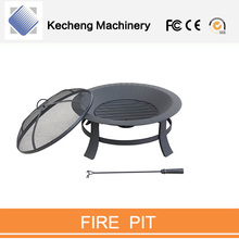 Portable Outdoor Fireplace, Backyard Patio Fire Bowl Safety Mesh Cover Camping Fire Pits