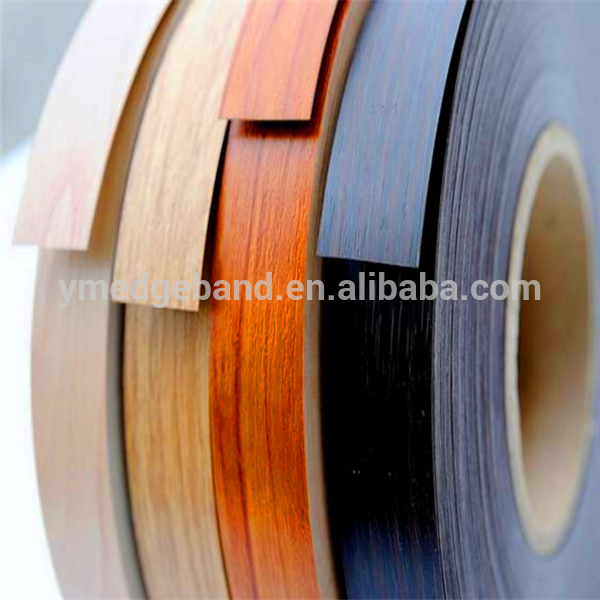 woodgrain pvc plastic edge banding trim for wood