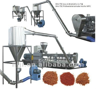 SHJ-75C Professional WPC twin screw extruder /wood-plastic extruder