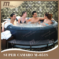 6 person inflatable portable spa / outdoor whirlpool / massage hot tub MSpa Camaro M-051S 6 person leather cover