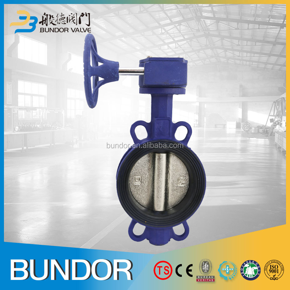 Rubber seat ring wafer ductile iron 1 inch butterfly valve