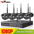 4CH 1080P Wireless IP Home Alarm System Camera With NVR CCTV System IPK9204B-W