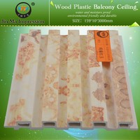 Non - Formaldehyde Emission Wood Plastic Waterproof Bathroom Ceiling Panels