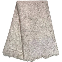 High Quality Nigerian Cheap Cord Lace Mesh Embroidery Fabric For Sewing Beauty Women Dress 843