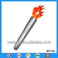 Promotional inflatable torch, inflatable plastic Olympic torch