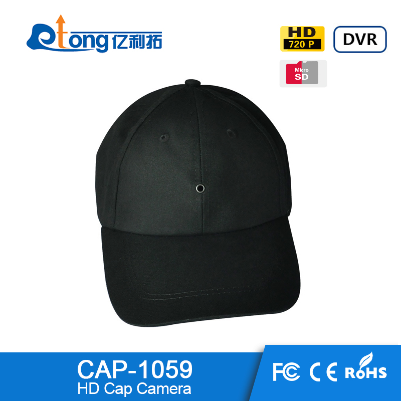 Thermal Wireless headset Cap Camera high resolution latest custom best gift boys cap camera digital for your boy