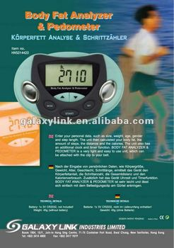 Portable and compact design Body Fat Analyzer and Pedometer