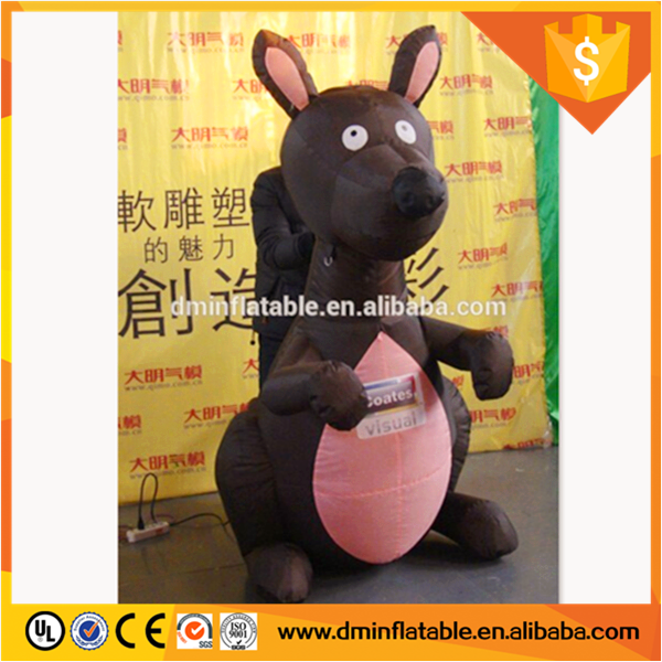 Pretty So Soft Custom Design Made Lovely 2.5M Cartoon Character Inflatable Little Kangaroo