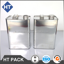1 gallon or 4L square tin can with metal or plastic handle