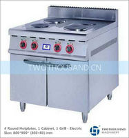 Electric Commercial Range - 4 Plates, With Cabinet, 9200 Watt, TT-WE158A