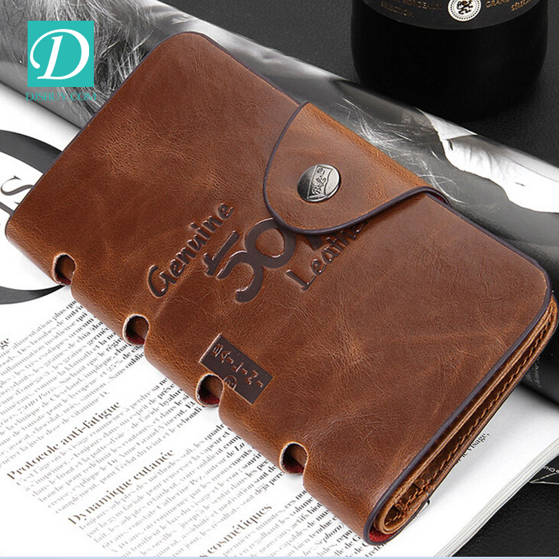 Old Style Classic Handmade Real Leather Men's Wallet Guangzhou