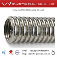 [tianjin wide metal hose DQ-JB] 1 2 3 4 5 6 8 10 12 14 16 18 20 24 inch stainless 304 flex pipe hose