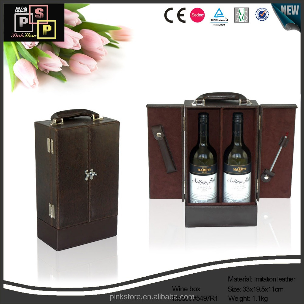 2 bottles wholesale products wooden wine wrapping chest