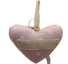 Party supplies elegant soft stuffed hanging heart decoration for Christmas