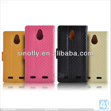2013 New Products Wallet Case for ZTE Nubia z5mini Leather Case Cover--P-ZTEZ5MINICASE001