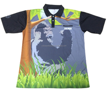 Pas cher microfibre Polyester Sublimation impression sec Fit Polo football T Shirt