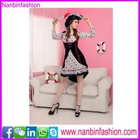Nanbinfashion 4pcs long sleeve girl pirate costume