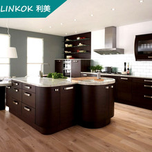 Import from China high gloss knock down polymer water resistant kitchen cabinet