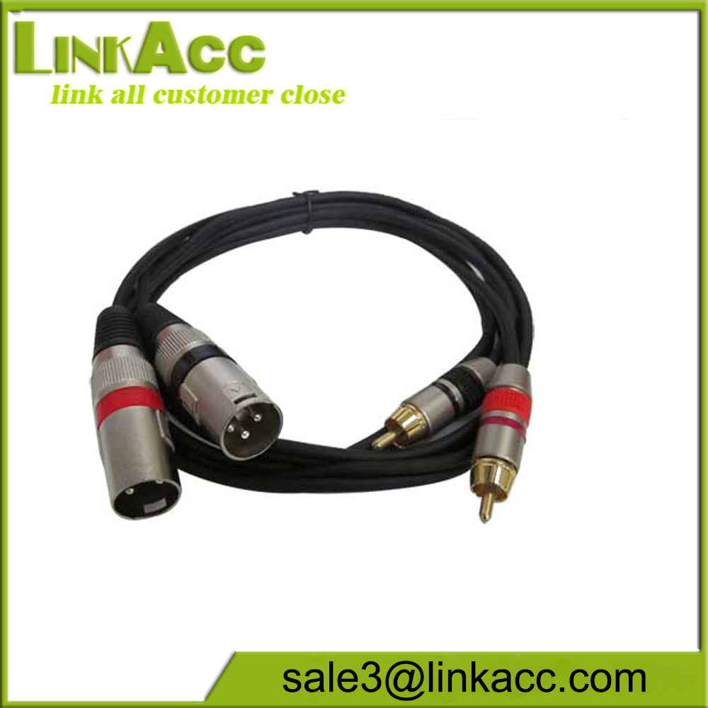Seismic Audio - Dual XLR Male to Dual RCA Male 5' Patch Cable - New Pro Audio