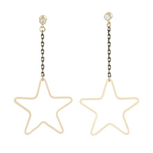 big star hoop gold filled fancy stud earring women jewelry parts