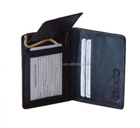 Genuine leather money clip wallet with card holder