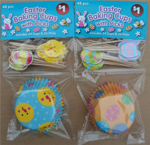 Easter Baking Cups with Picks