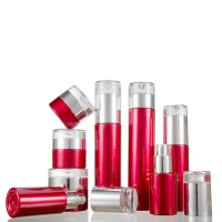 Red Cosmetic Tubes Packaging Classic Cosmetic Container Glass Bottle