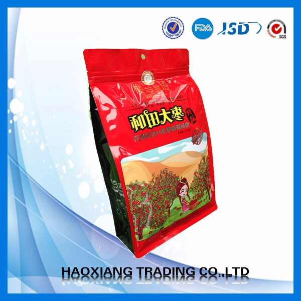 TOP quality resealable Plastic tortilla chips packaging bag plastic sealing bag for snack