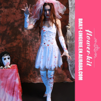 Halloween Cosplay Zombie Bride Costume Sexy Corpse Bride Costume