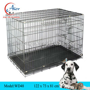 large dog crate double lock design