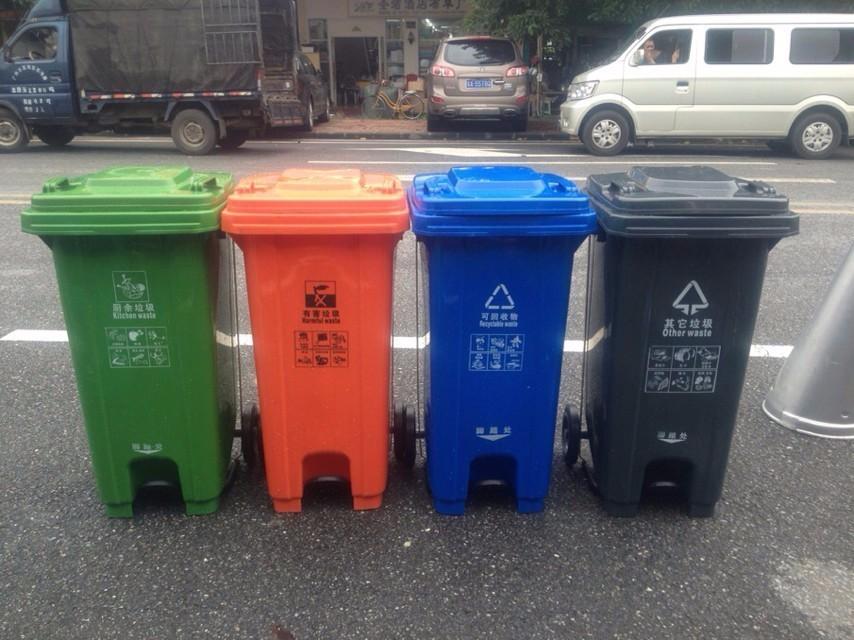 120l Pedal Garbage Bin With Wheels Buy Industrial