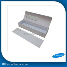 Matte lamination custom hair extension packaging, folding drawer paper hair extension packaging box