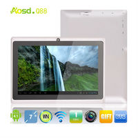 "cheap china android tablet 7"" 4gb android 4.0 touchscreen all winner a13 q8 q88 tablet pc"