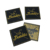 professionally custom with gold metallic clothing woven labels