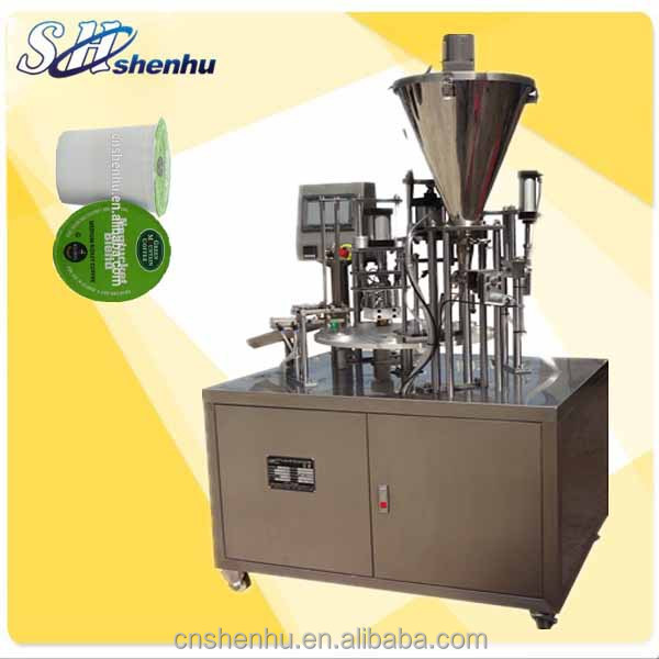 shenhu automatic rotary type yoghourt cup filler and sealer