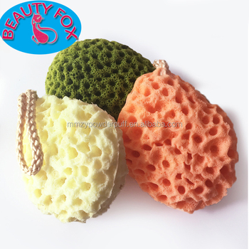 Top Sale Amazon Bath Sponge Exfoliator Body Face Washing Cleansing Pad Sponge Wash Puff with Ropes